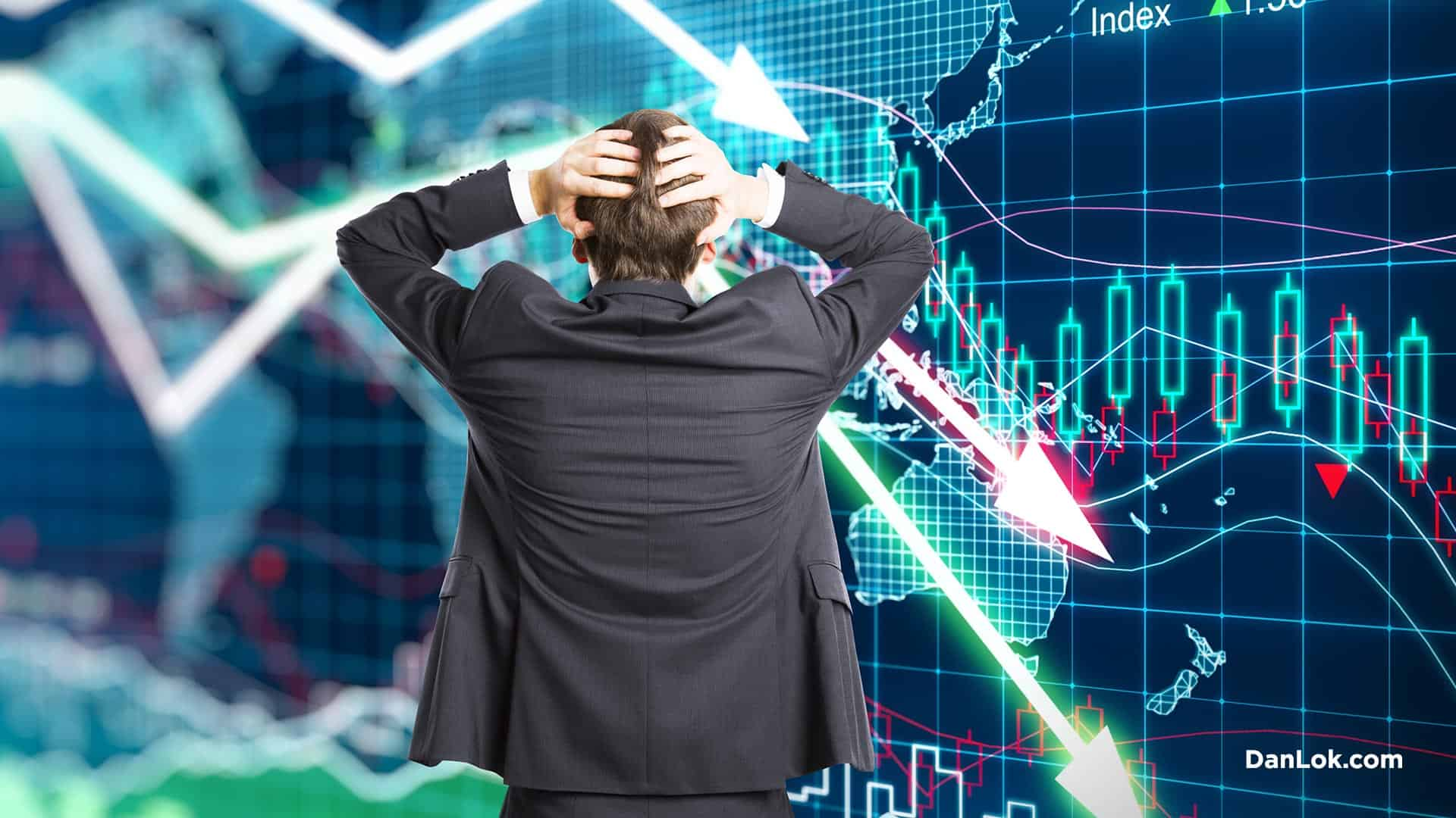 panicking businessman will not survive the recession